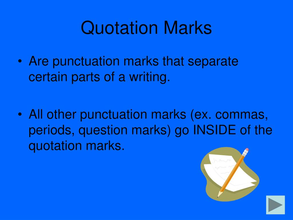 Quotation Marks And Commas