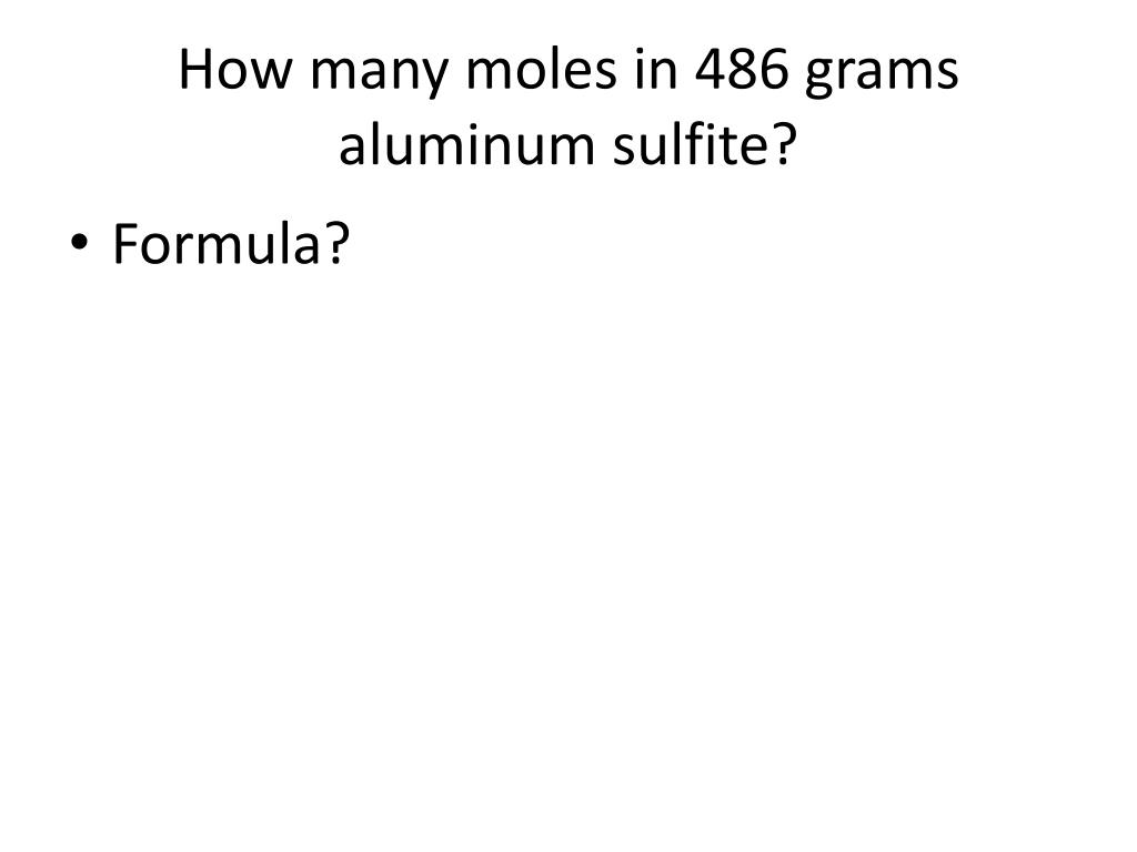 What Is The Formula For Aluminum Sulfite