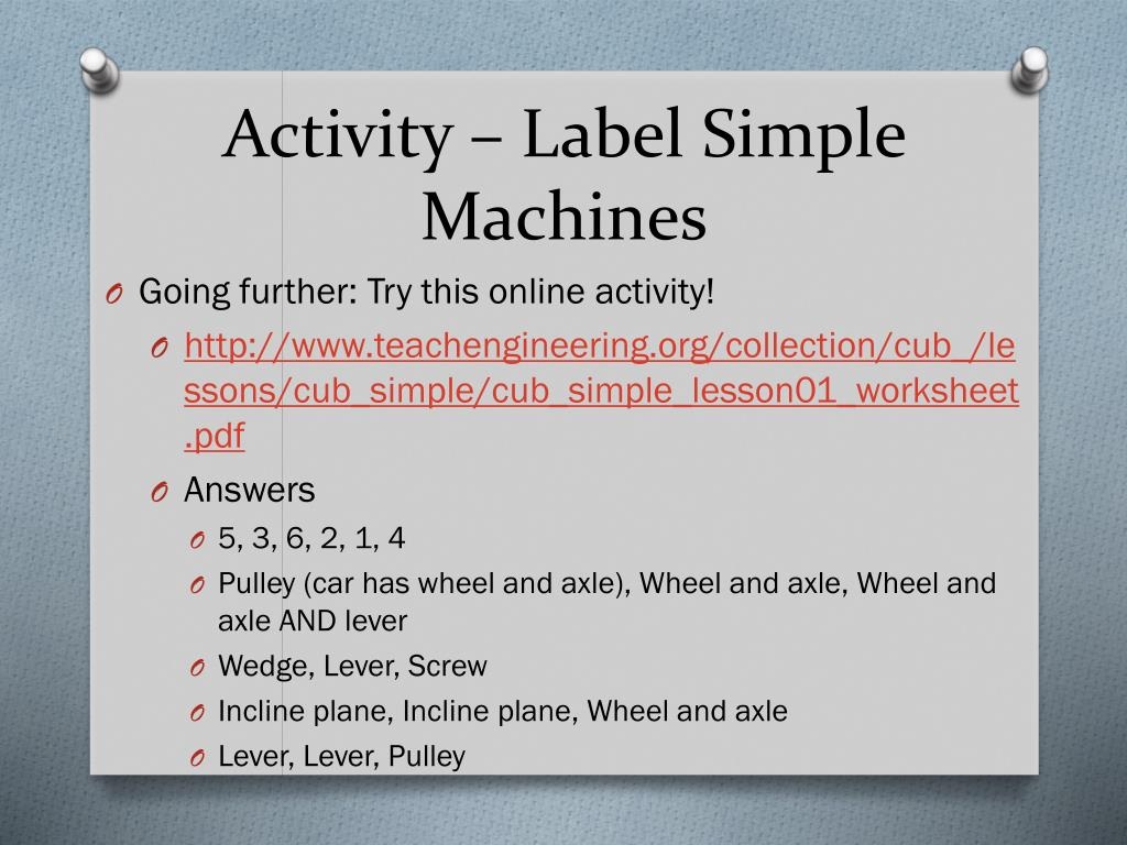 20 Fantastic Ideas Simple Machines Worksheet