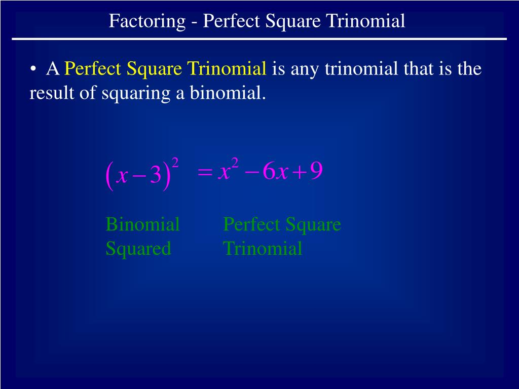 I Can Positive Factor Perfect Squares