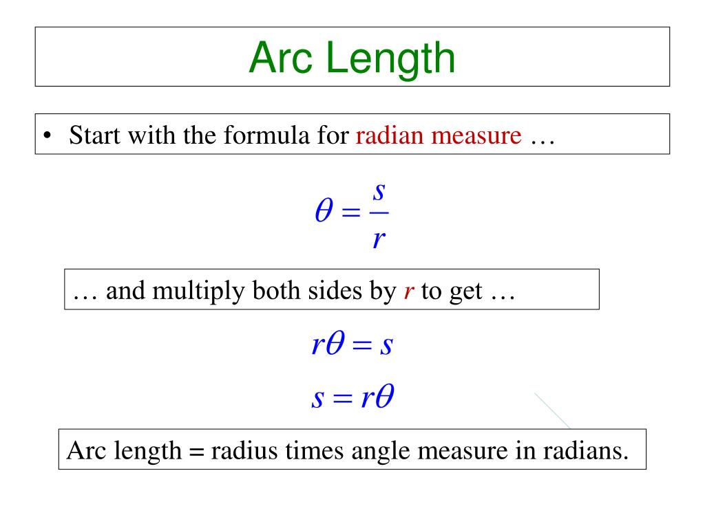Circle Arc Length Formula Radians