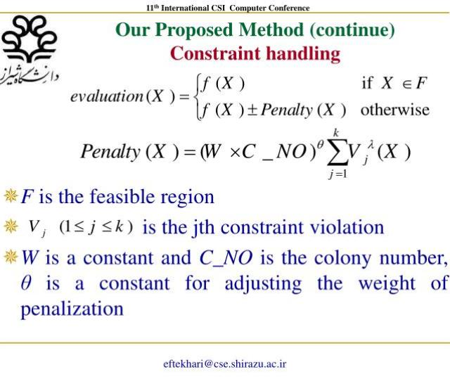 Our Proposed Method Continueconstraint Handling