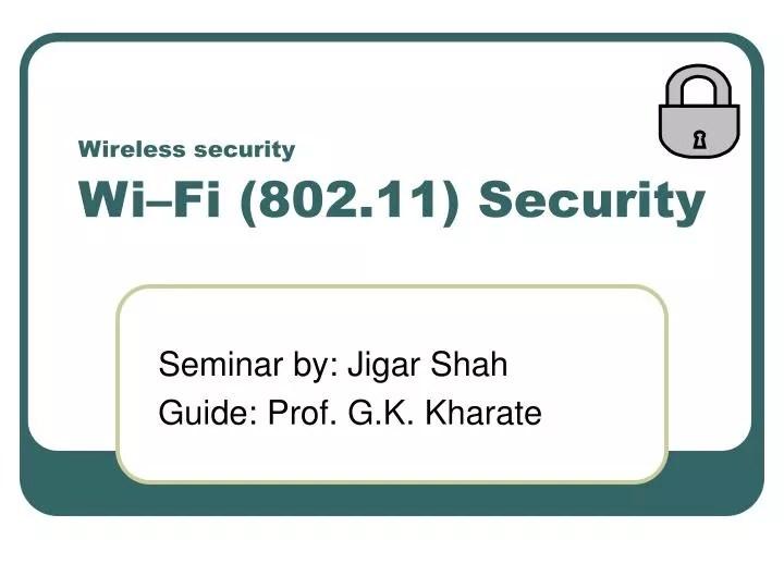 Wireless Security 80211i
