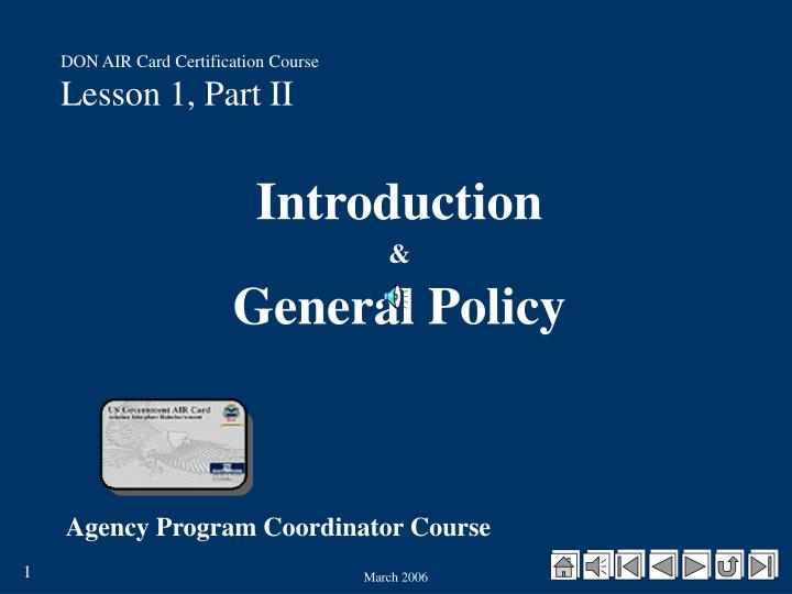 Ppt Don Air Card Certification Course Lesson 1 Part Ii
