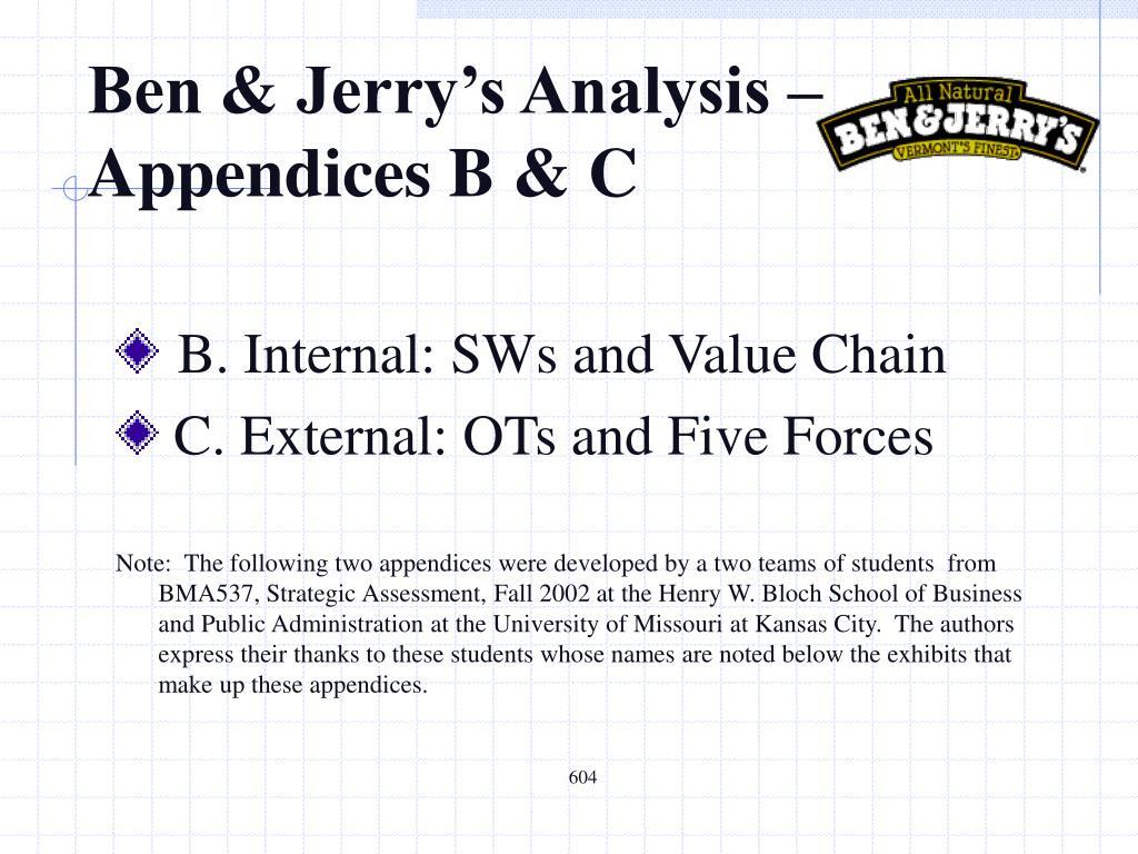 PPT Ben Amp Jerrys Analysis Appendices B Amp C PowerPoint Presentation ID5257970