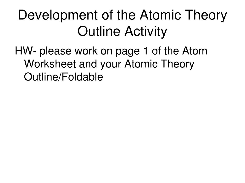 History Of Atomic Theory Foldable Answer Key