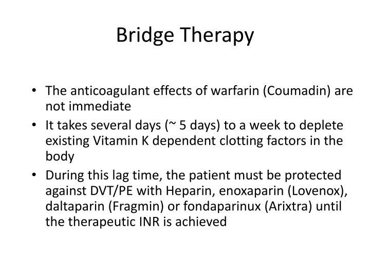 Lovenox Warfarin Bridge