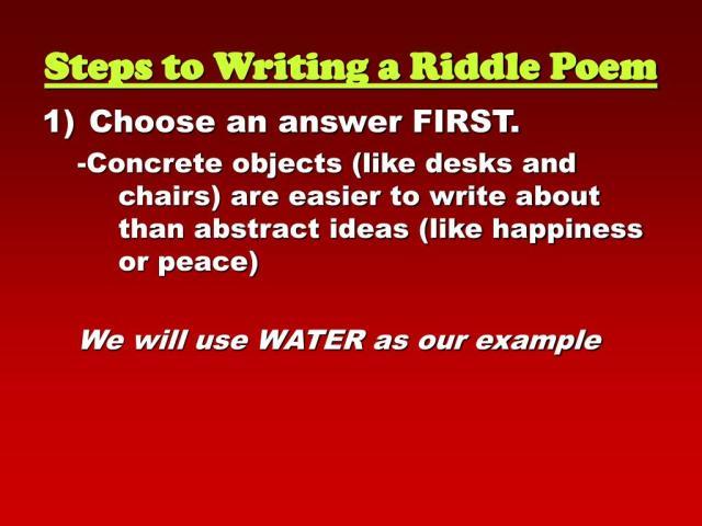 PPT - agenda______________ Riddle Poems Homework__________________