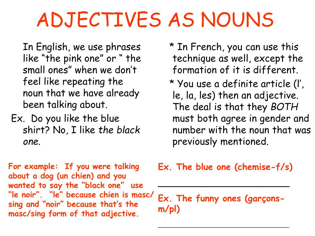 Can A Noun Be Used As An Adjective How To Use Adjectives