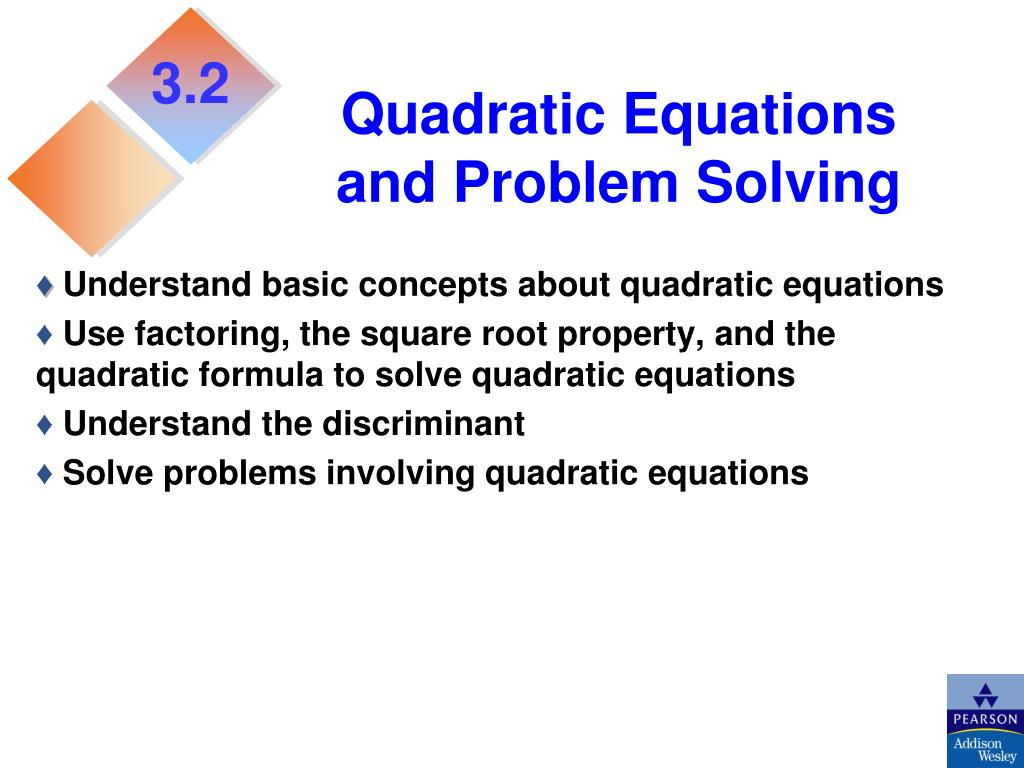 Solve Quadratic Equations By Finding Square Roots Ppt
