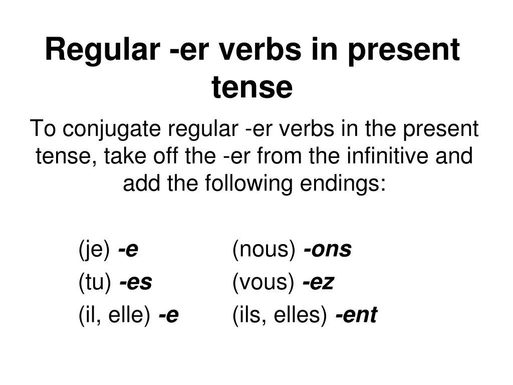 Er Verbs Conjugation