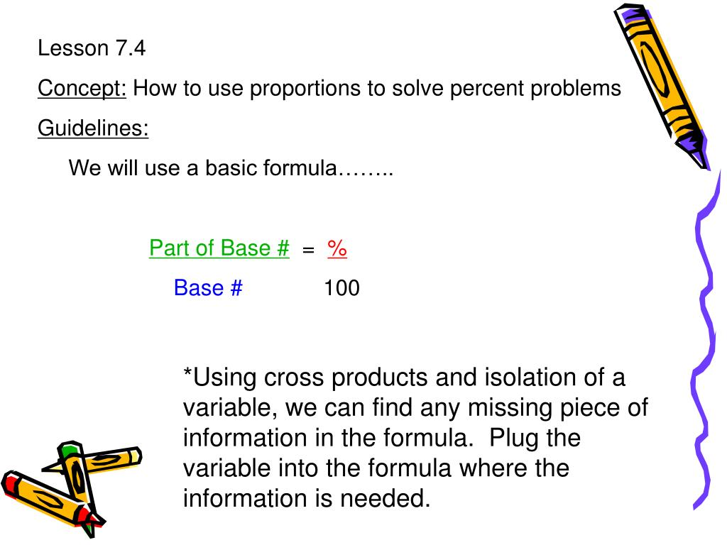 Using Proportions To Solve Percent Problems Keplarllp