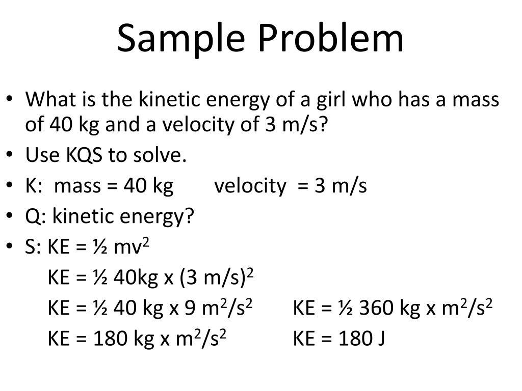 Problems On Kinetic Energy