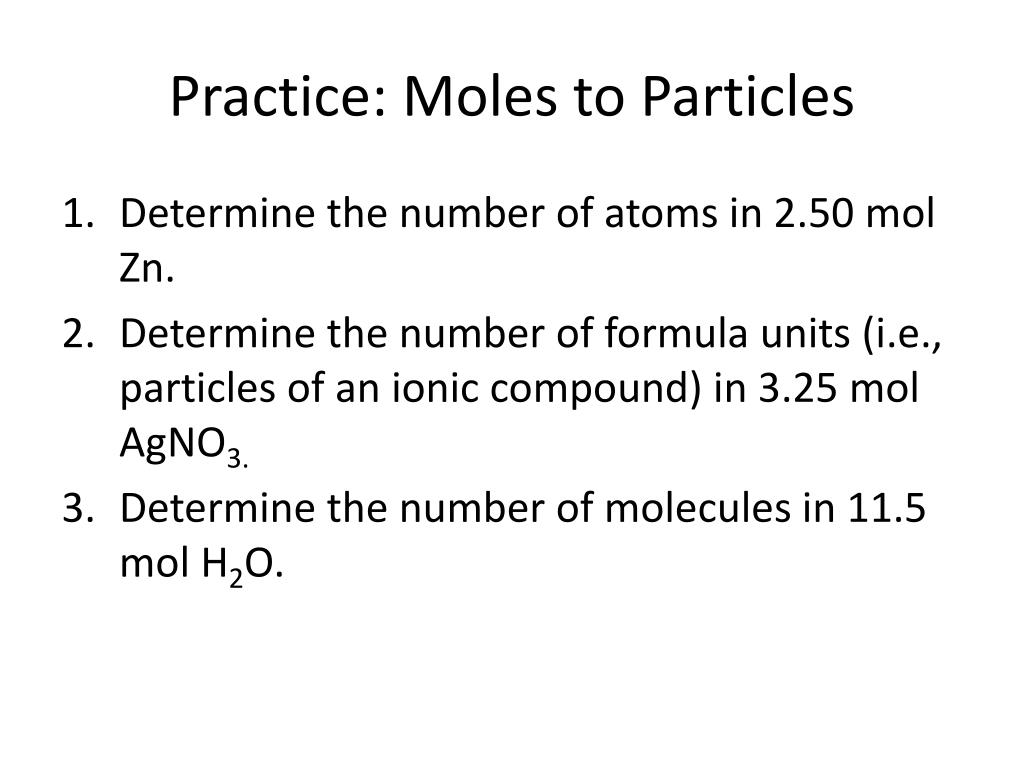How To Find Formula Units In Moles