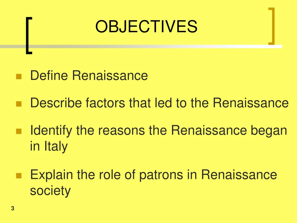 Why Did The Renaissance Began In Italy 3 Reasons
