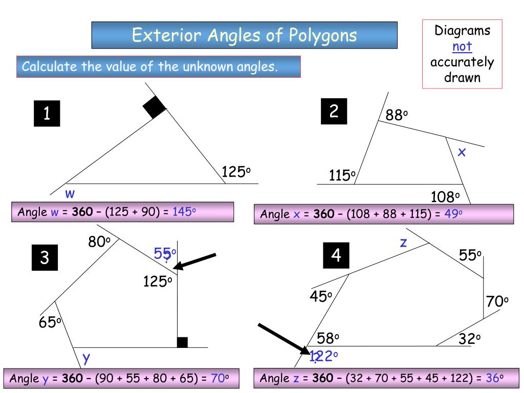 Interior Angles Of A Polygon Worksheet