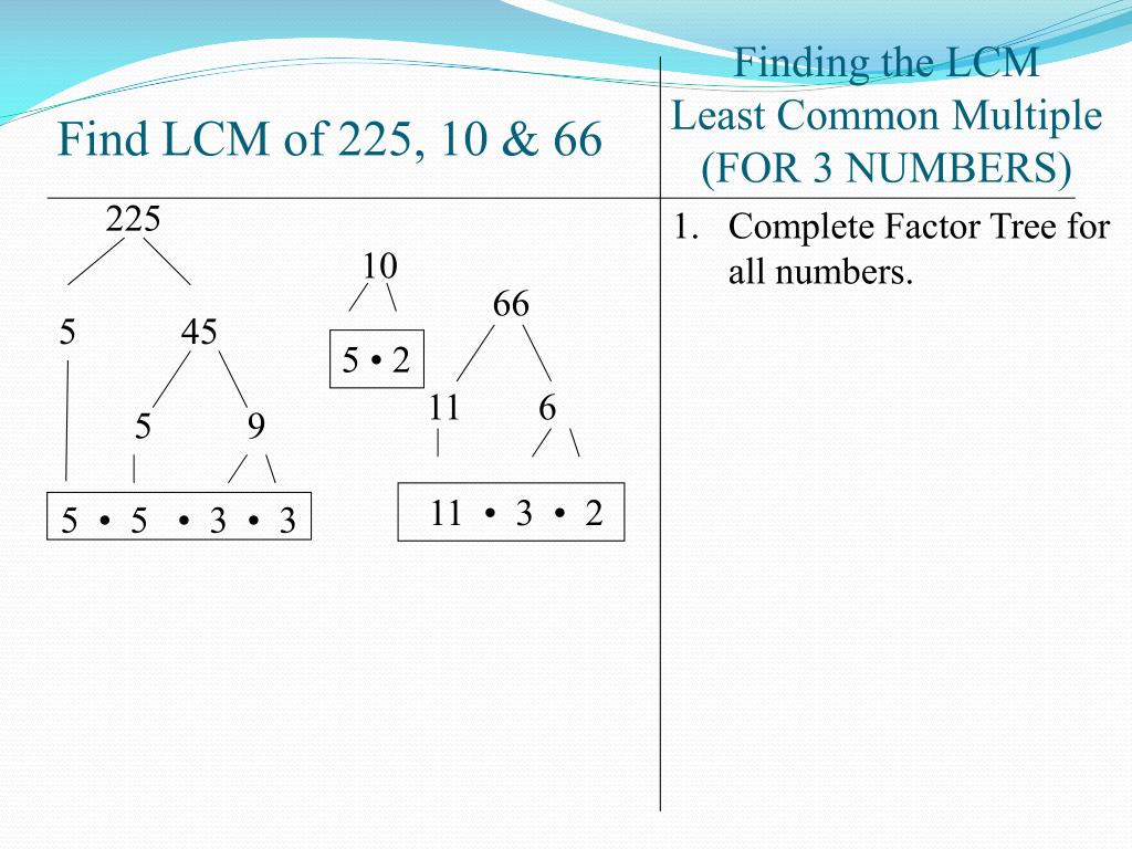 How To Find Lcm Of 3 Numbers