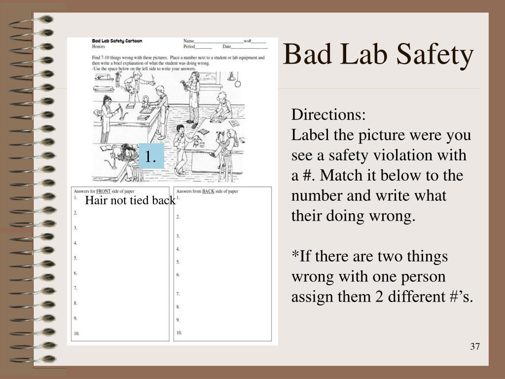 Lab Safety Cartoon Worksheet Answer Key
