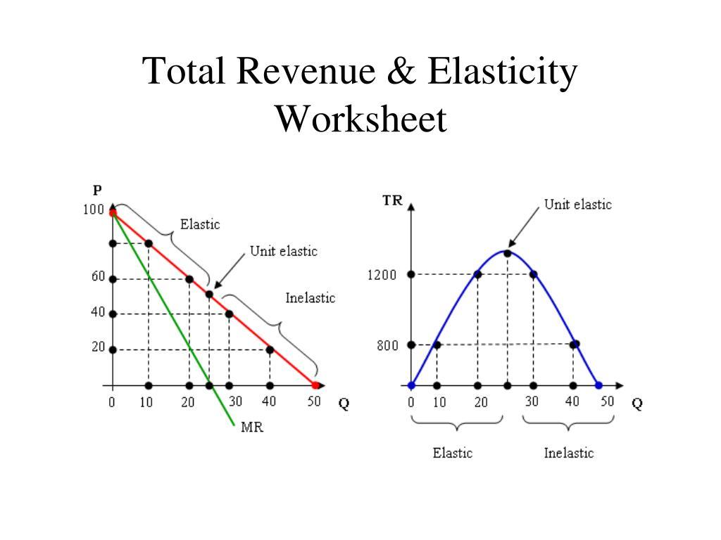 Elasticity Of Demand Worksheet