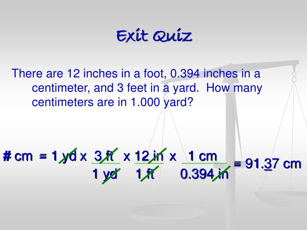 How Many Centimeters In 3 Feet