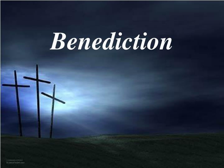 Church Benediction Blessing