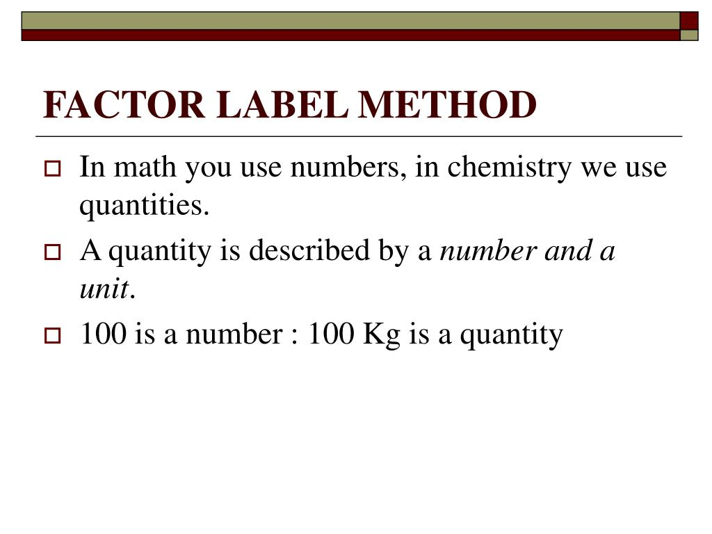 35 Factor Label Method Chemistry