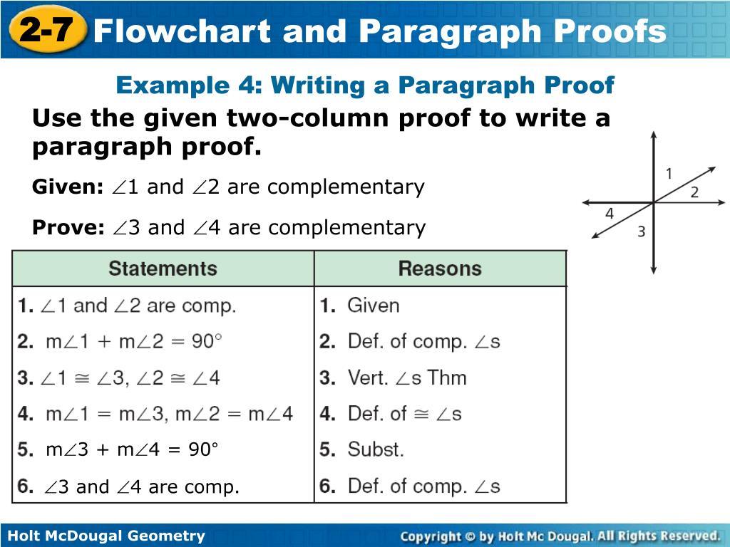 2 Column Proof Geometry Examples