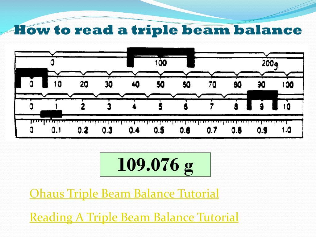 Worksheet Reading Triple Beam Balance