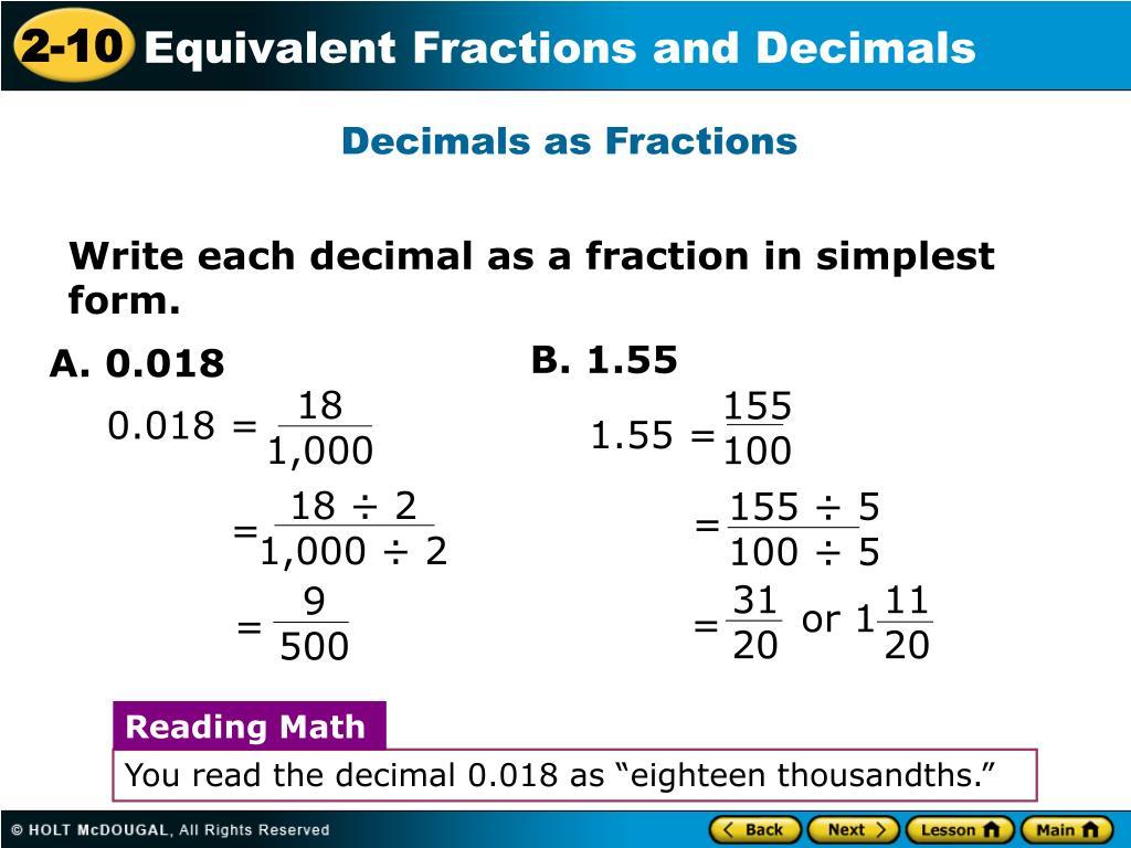 Simplest Form Decimal Is Simplest Form Decimal Any Good