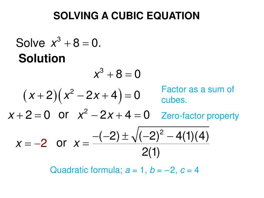 How To Solve A Cubic Equation By Factoring