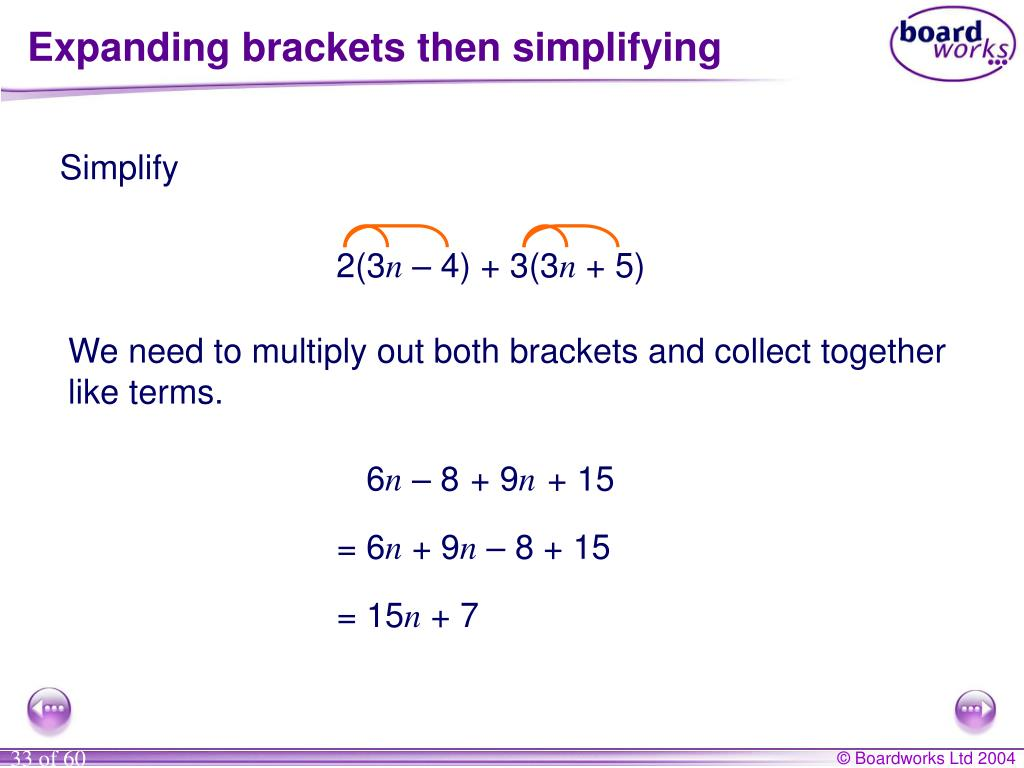 Multiply Out The Brackets
