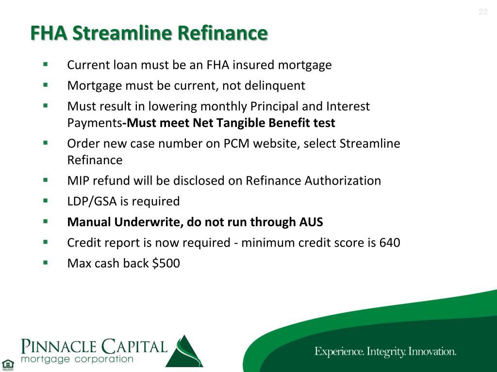 Fha Streamline Max Mortgage Worksheet