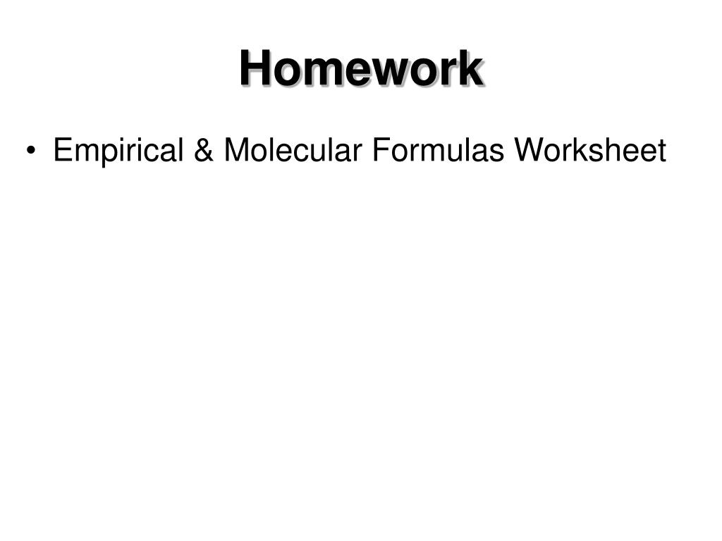 Molecular And Empirical Formula Worksheet With Answers