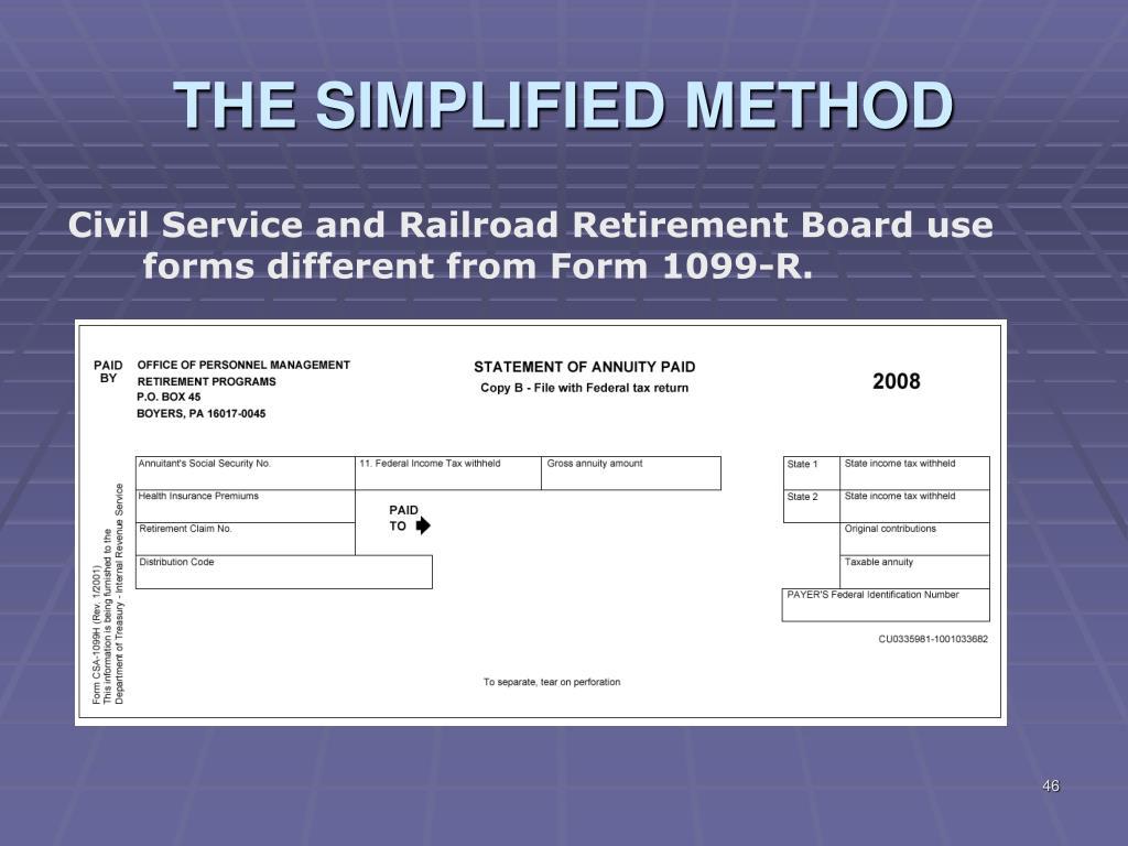 Basic Pension Worksheet