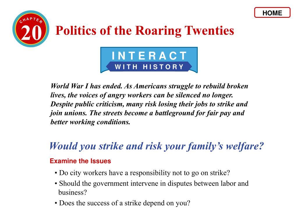 Chapter 20 Politics Of The Roaring Twenties Answer Key