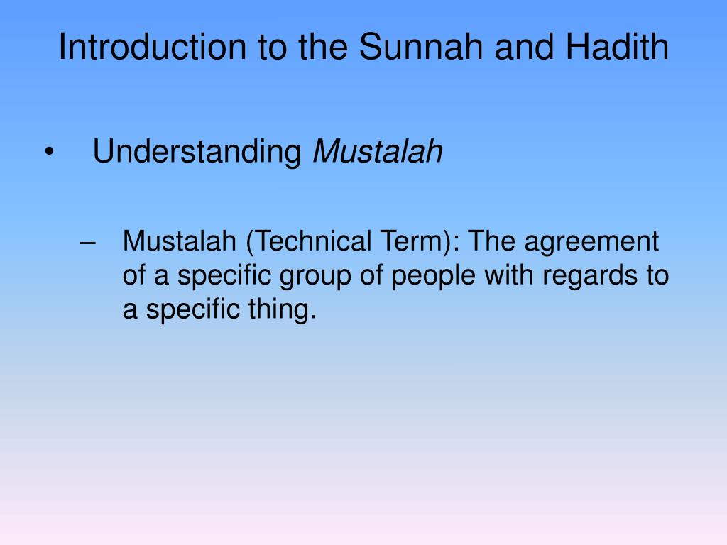 Ppt The Prophetic Sunnah Powerpoint Presentation Id6950640