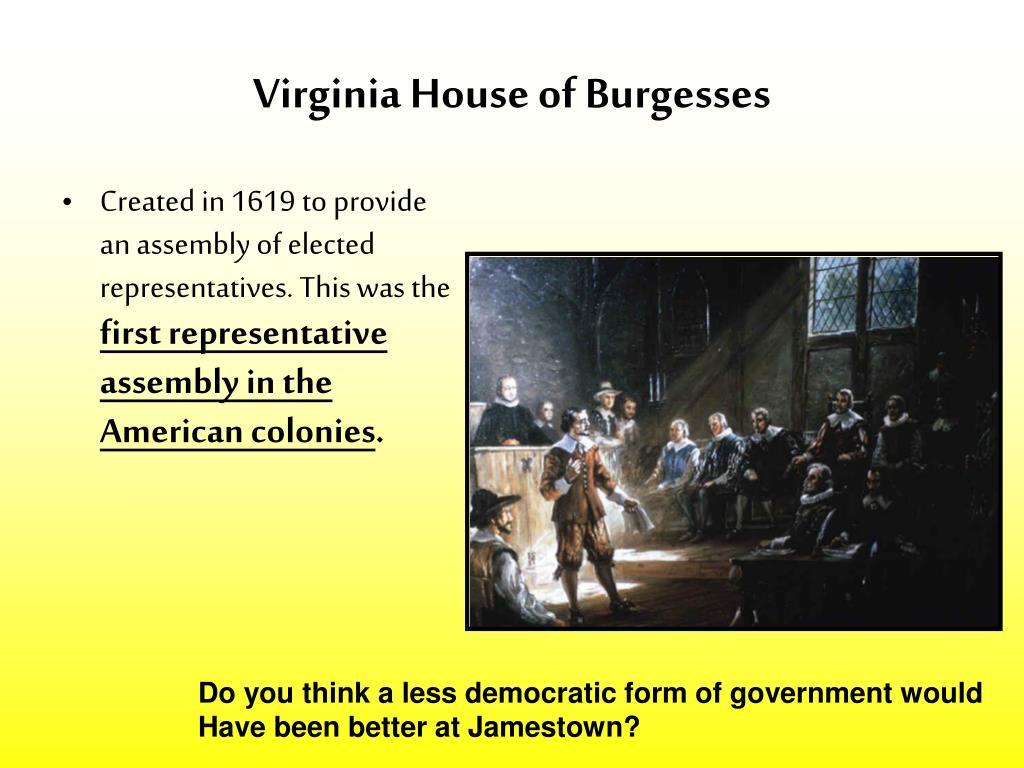 Worksheet Virginia House Of Burgesses