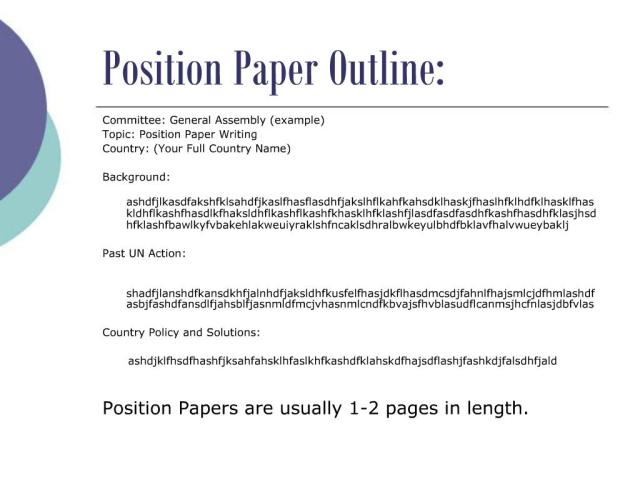 PPT - How to write a Position Paper PowerPoint Presentation, free