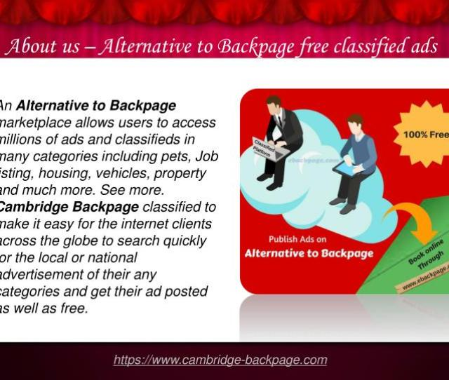 About Us Alternative To Backpage Free Classified Ads Sites
