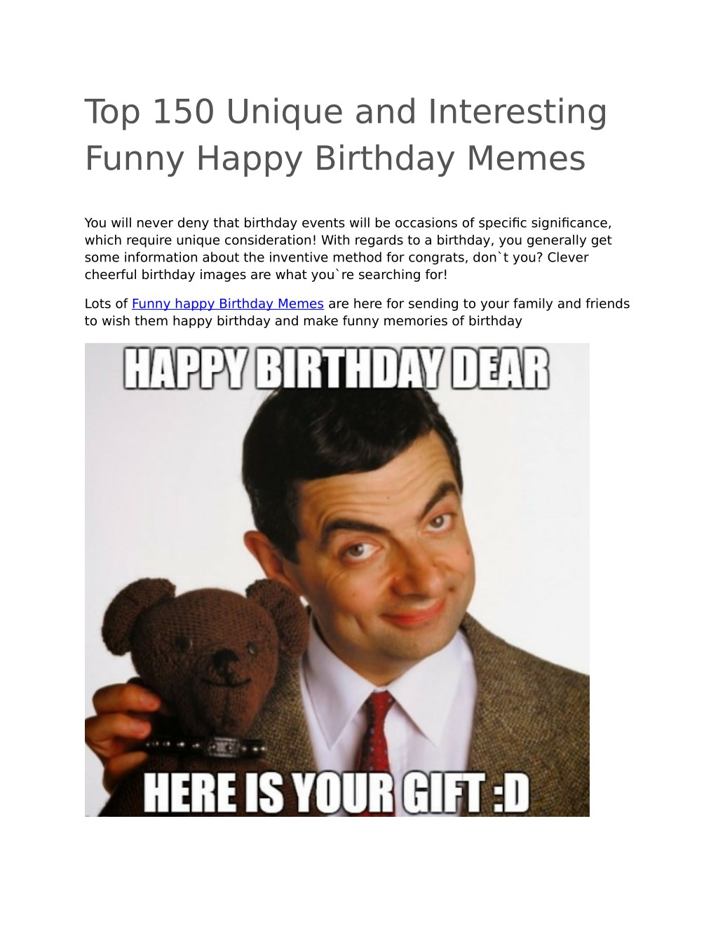 Ppt Funny Happy Birthday Memes Powerpoint Presentation Free Download Id 8029856