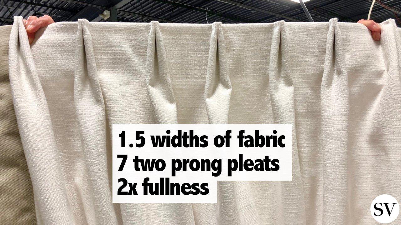 drapery widths