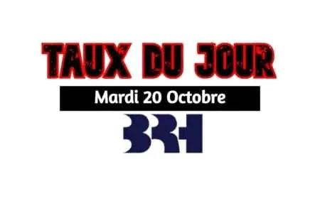 Haïti-Marchés des changes/ Taux affichés pars les Banques pour ce 20 octobre 2020 -