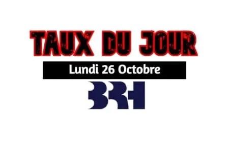 Haïti/ Taux affichés par les banques pour ce 26 octobre 2020 -