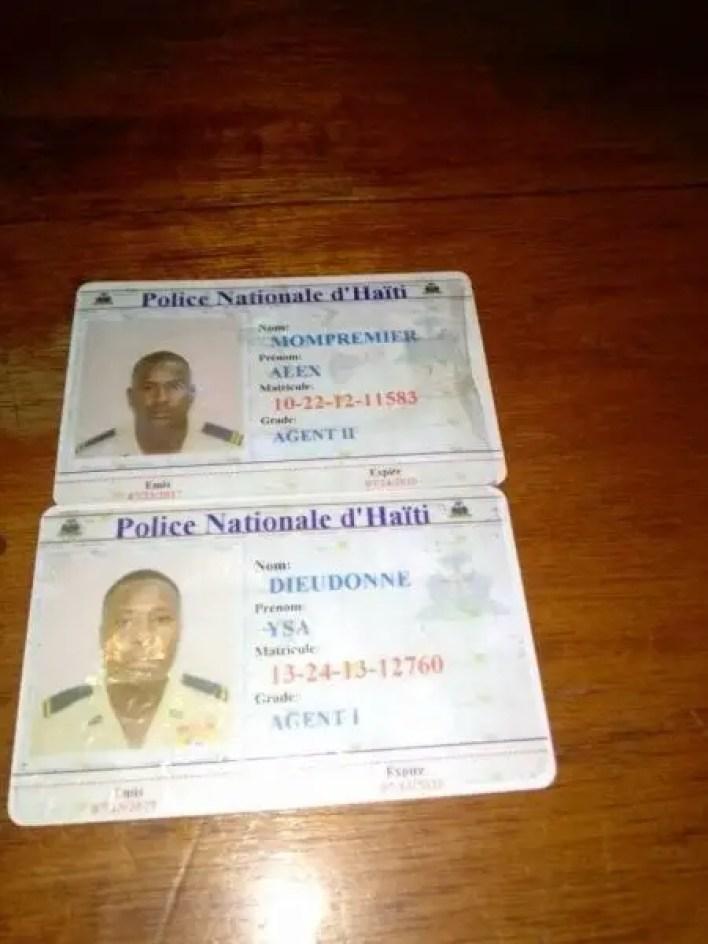 Trafic illicite: Arrestation de 2 policiers dont l'un serait affecté à la sécurité du DG de la PNH - Eddy One, Eliobert Jasmin, Rameau Normil