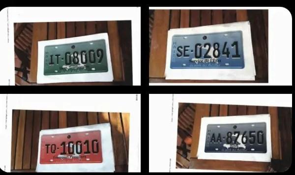 Immatriculation: Plus d'un million de nouvelles plaques sont disponibles pour les véhicules (DGI) - Plaque