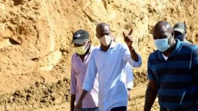 Le président Jovenel Moïse a visité le chantier des travaux de la route de Chansolme à Port-de-Paix. - Jovenel Moise échoué avec agritrans