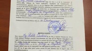 Mandat d'amener contre Eudes Lajoie actuel Directeur Général de SNGRS - Eudes Lajoie