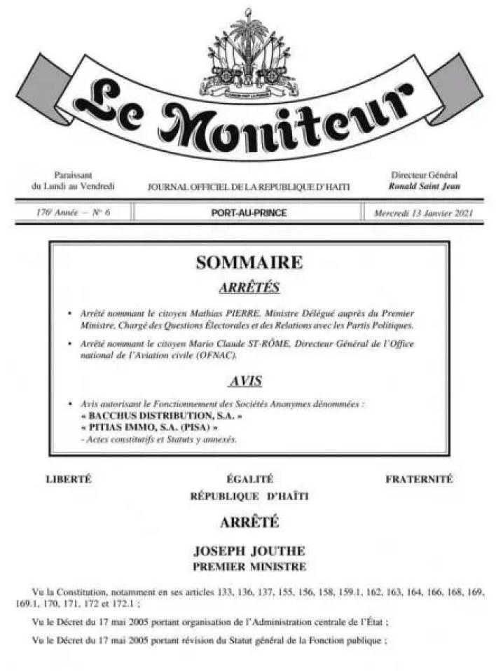 Deux nouvelles nominations dans la fonction publique, Mathias Pierre trouve sa part du gâteau -