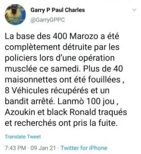 Opérationpolicière àCroix-des-Bouquets, «lanmosanjou»chefdes 400 «Mawozo»traqué. - 400 marozo, Police