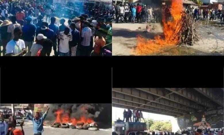 À l'appel des leaders politiques, des manifestants investissent les rues des grandes villes du pays -